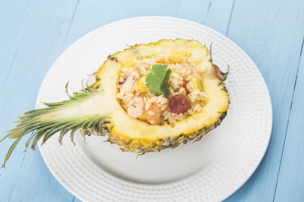 Curry ananas crevette